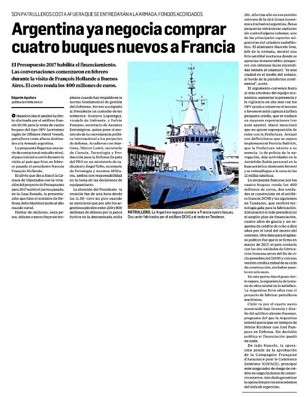 Argentina ya negocia comprar cuatro buques nuevos a for Compagnie francaise d assurance pour le commerce exterieur